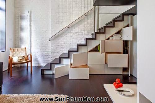 Mẹo thiết kế tủ cầu thang hữu ích - Tủ âm tường gỗ-1