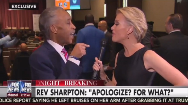 Al Sharpton clashes with Fox News host Megyn Kelly