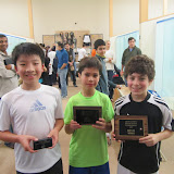 BU11 draw: Andrew Lee (3rd place), Andrew Lazor (Finalist), Samuel Freed (Winner)
