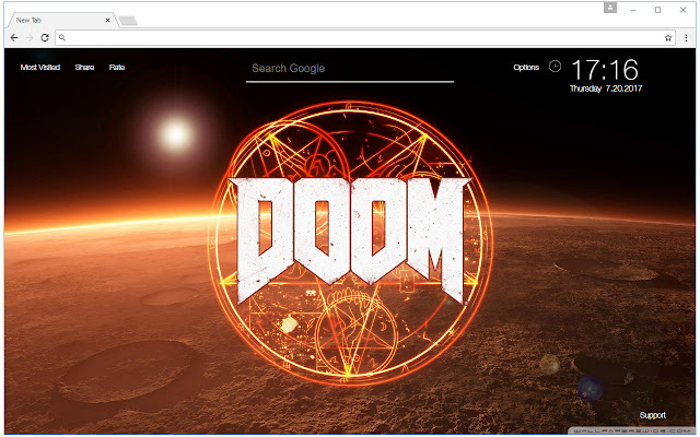 Doom Wallpaper HD New Tab Doom Themes