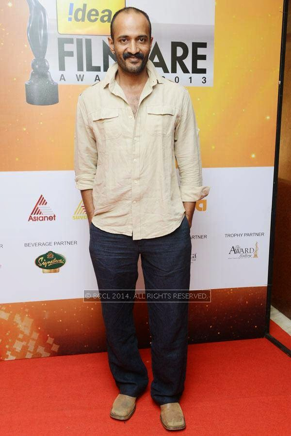 Kishore during the 61st Idea Filmfare Awards South, held at Jawaharlal Nehru Stadium in Chennai, on July 12, 2014.