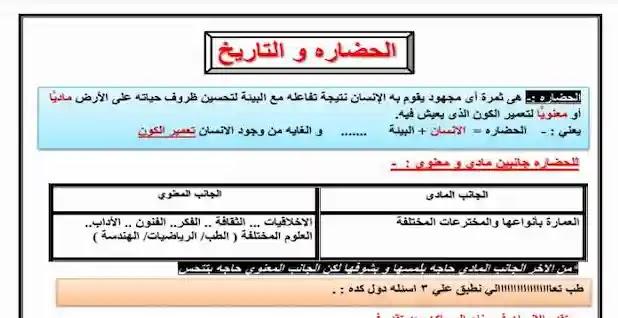 شرح و اسئلة تاريخ أولى ثانوى النظام الجديد ترم اول 2021 لدرس الحضارة والتاريخ للاستاذ احمد عصام