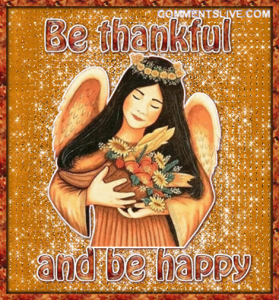 Be Thankful Be Happy, Wonderful Thanksgiving