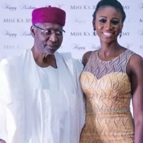 Abba Kyari's daughter calls out wife of Psquare's Peter Okoye as she mourns her father