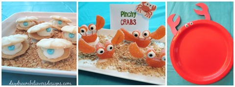 fun easy summer beach mermaid themed snacks and crafts for kids under the sea birthday party