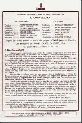 A Flauta Mágica (29-10-1976)