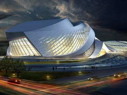 zaha-hadid-Chinese-architecture-futuristic-concept-New-Century-City-art-Centre-Chengdu-01