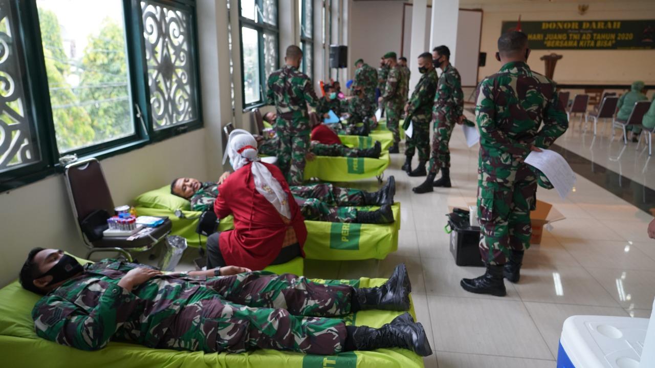 Hari Juang TNI AD 2020, Korem 091/ASN Sumbang Donor Darah 121 Kantong
