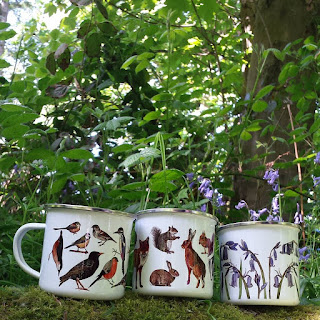 Picnic Enamel Mugs by Alice Draws The Line