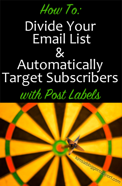 How to divide your email list and target audience with post labels