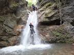Toboggan freiné au canyon de la Pissarde à Claix en Vercors