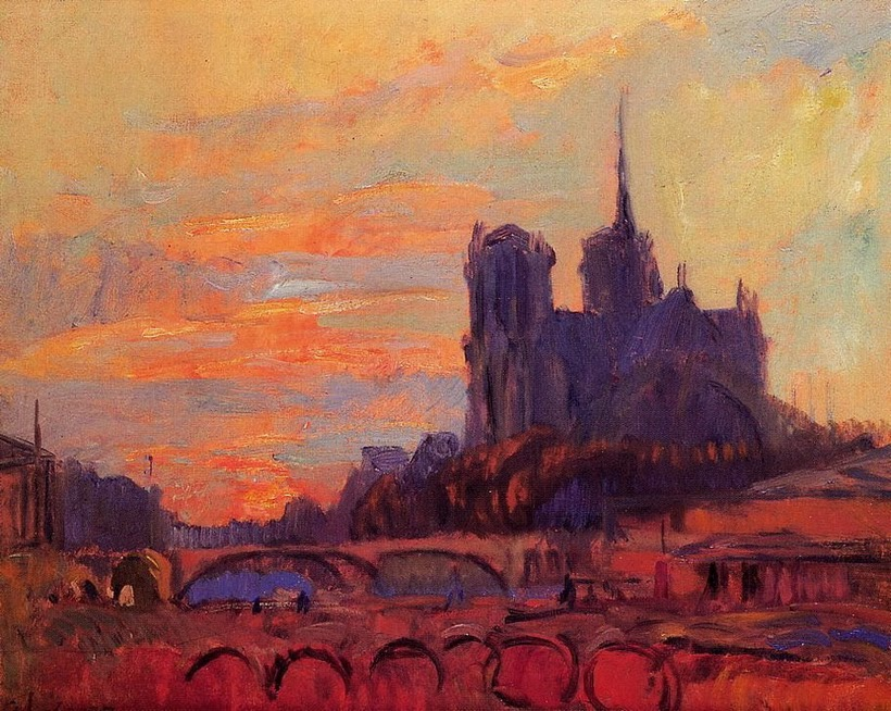 Albert Lebourg - View of Notre Dame and the Seine