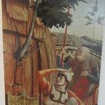 010 -Mantegna-Resurrezione predella pala S.Zeno-Tours Musèe del Beaux Arts-particolare  dello scudo.jpg