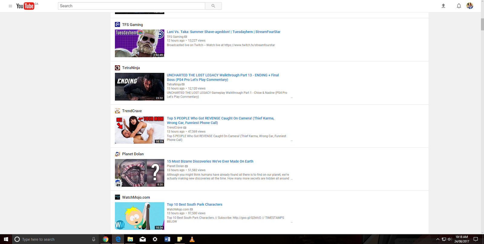 YouTube Left Hand Sidebar not working under Chrome/Edge/FFox