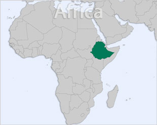 Ethiopia location map