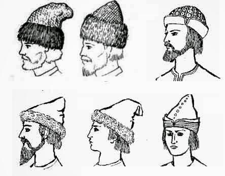 Русская шапка в древности