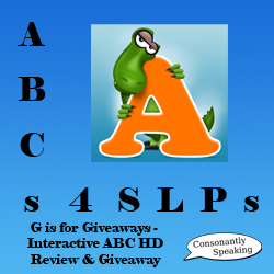 ABCs 4 SLPs: G is for Giveaways - Interactive ABC HD Review and Giveaway image