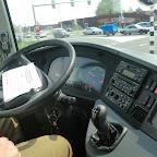 Het dashboard van de Setra van Besseling Travel bus 5