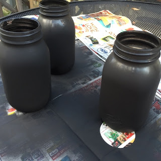 Chalk Painting Mason Jars with Spray Chalkboard Paint