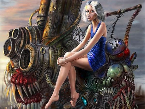 Girl On Iron Monster, Fiction 2