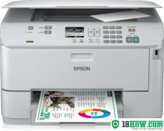How to reset flashing lights for Epson WorkForce WP-4515 printer