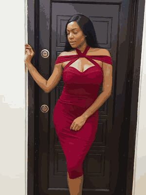 Chika Ike is all shades of lovely in this red dress (photos)