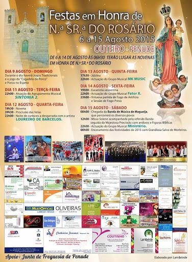 Festas em Honra de Nossa Senhora do Rosário - Outeiro - Penude - Lamego - 2015