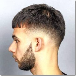Taper fade french crop and beard