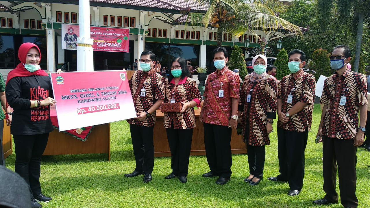 Perangi Wabah Virus Corona di Klaten, 20 Anggota Forum CSR Bantu Dana,  Paket Sembako dan APD