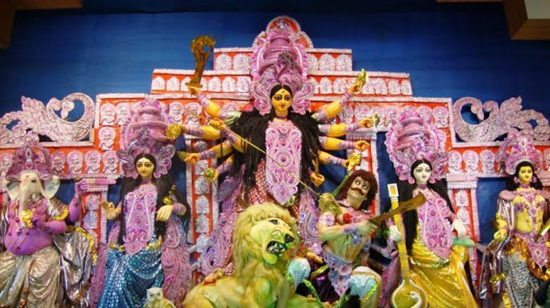 Maa Durga with her family | Durga Puja