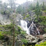 Upper Glen Falls behind Fallen Leaf Lake
