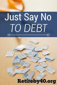 avoid debt say no to debt