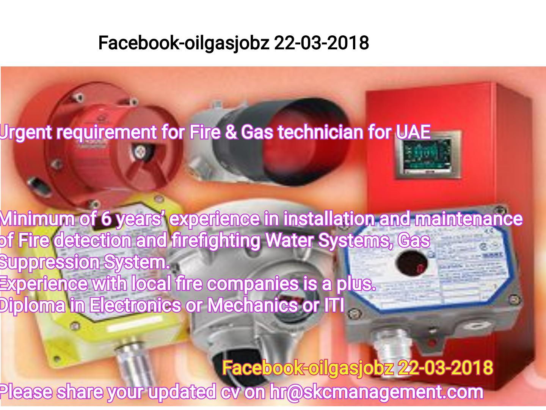 Oil and Gas Jobs: Fire & Gas Technician