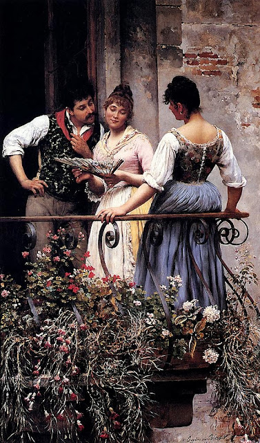 Eugene de Blaas - On the Balcony