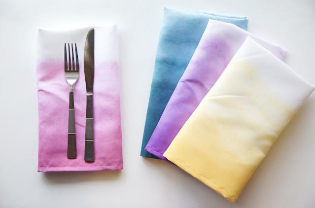 dip dyed tea towel