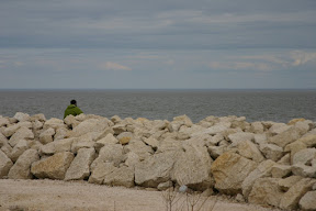 Scott looking pensive on Lake Winnipeg