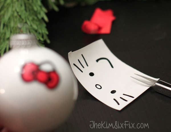 Adding vinyl onto ornaments