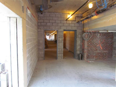 Middle School hallway to gym/cafeteria area
