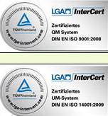 TUV certificering