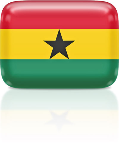 Ghanaian flag clipart rectangular