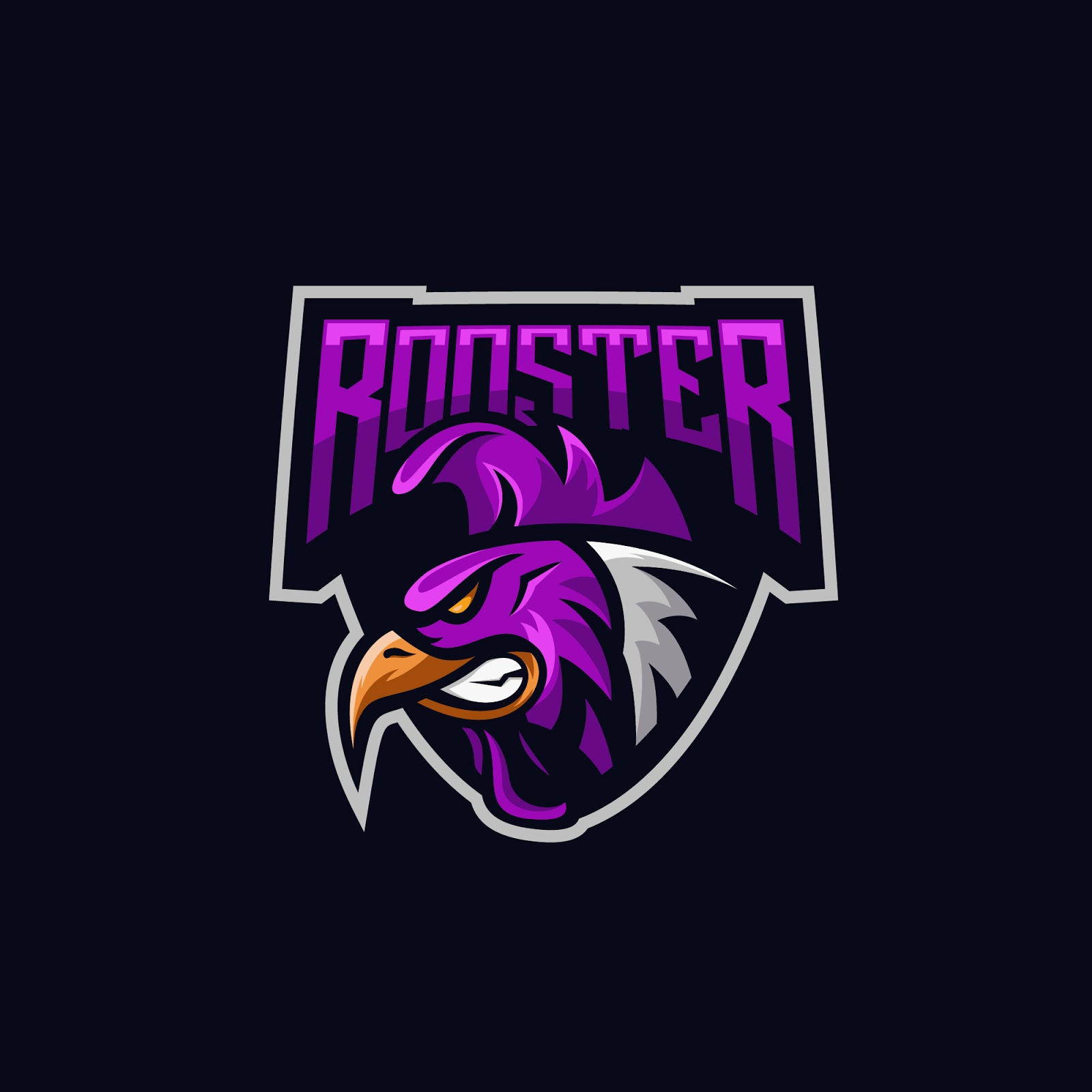 Rooster Awesome Vector Logo Free Download Vector CDR, AI, EPS and PNG Formats
