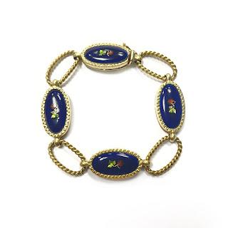 18K Gold and Enamel Bracelet