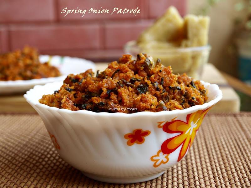 Spring Onion Patrode or Stir Fry