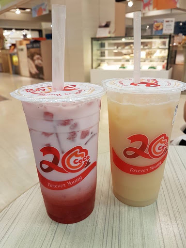Bubble teas from Coco at Dream Mall in Kaohsiung