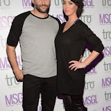 WWW.ENTSIMAGES.COM -   Dane Bowers and Sophia Carhill   arriving at      The MediaSkin Gifting Lounge at Stamp 79 Oxford Street London November 6th 2014                                                 Photo Mobis Photos/OIC 0203 174 1069