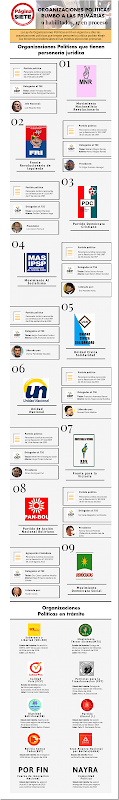 Bolivia: Estas son las organizaciones políticas habilitadas para las elecciones primarias (Infografía)