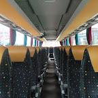 Het interieur van de Setra van Besseling bus 61