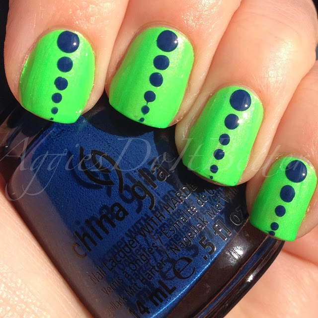 Aggies Do It Better Seattle Seahawks Inspired Nails Retro Dots