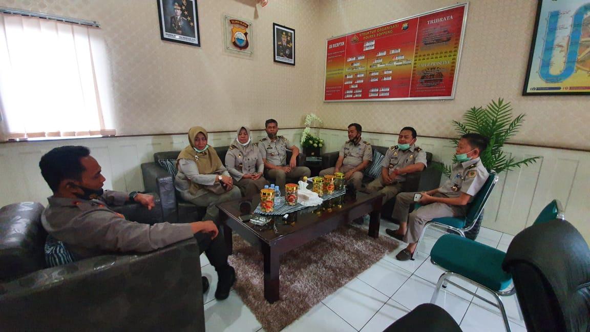Bangun Sinergitas, Kapolres Soppeng Terima Kunjungan Kerja Kepala BPN Soppeng Beserta Staff