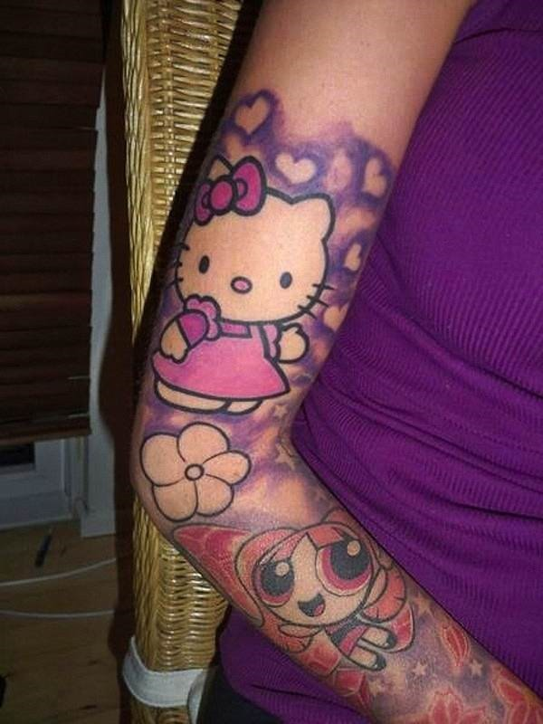 linda_tatuagem_manga_da_hello_kitty_e_flor